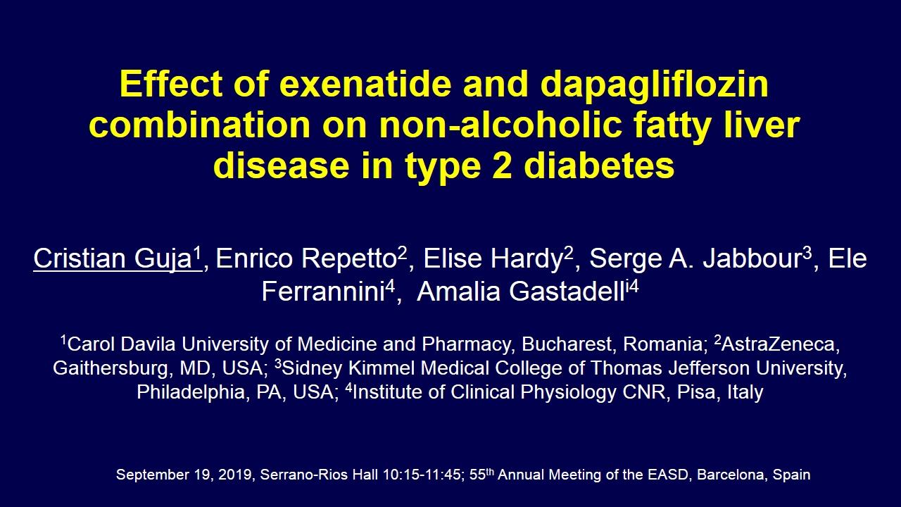 NAFLD and diabetes: new horizons - Virtual Meeting | EASD