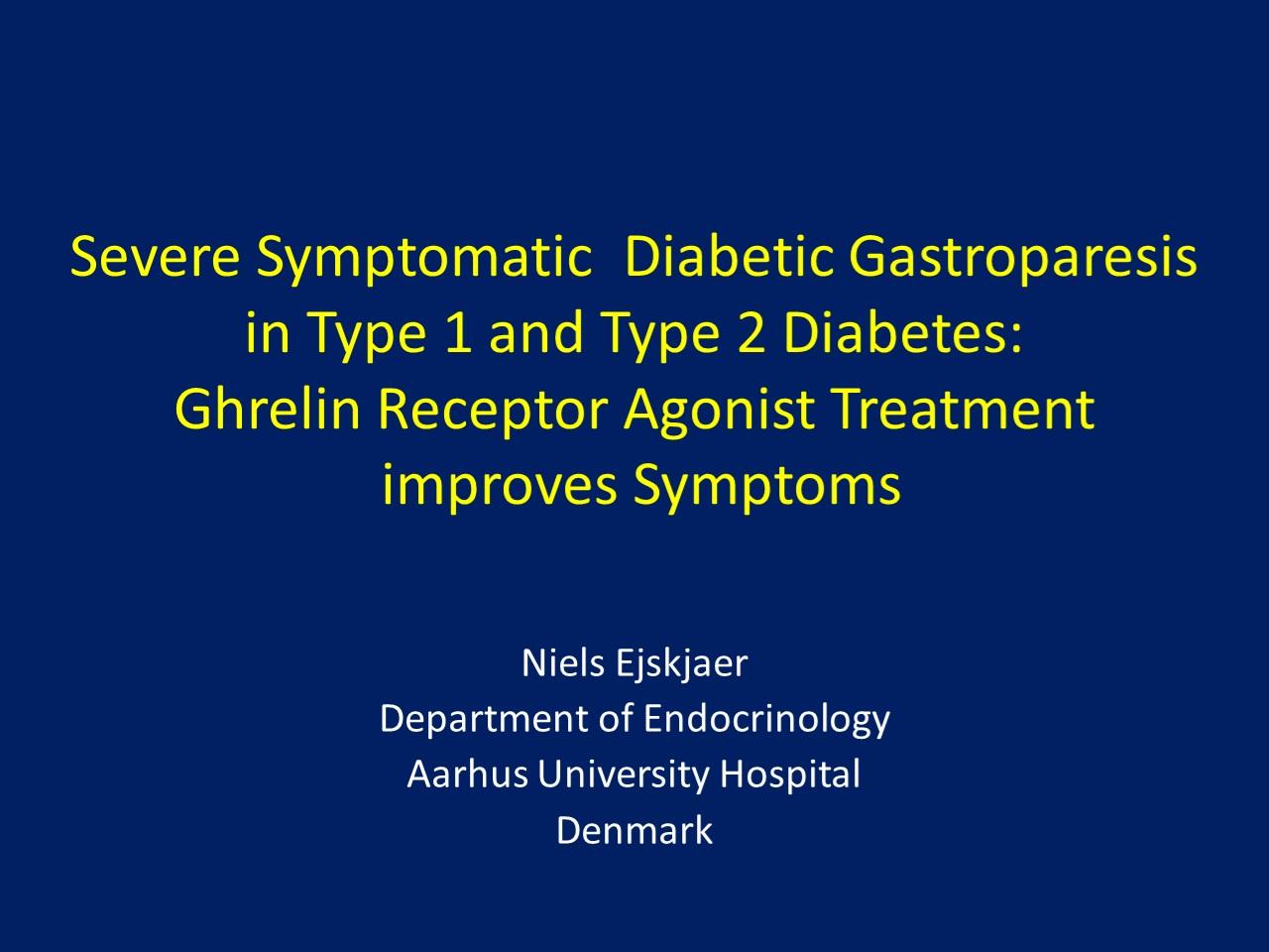 diabetes tipo 1 gastroparesia